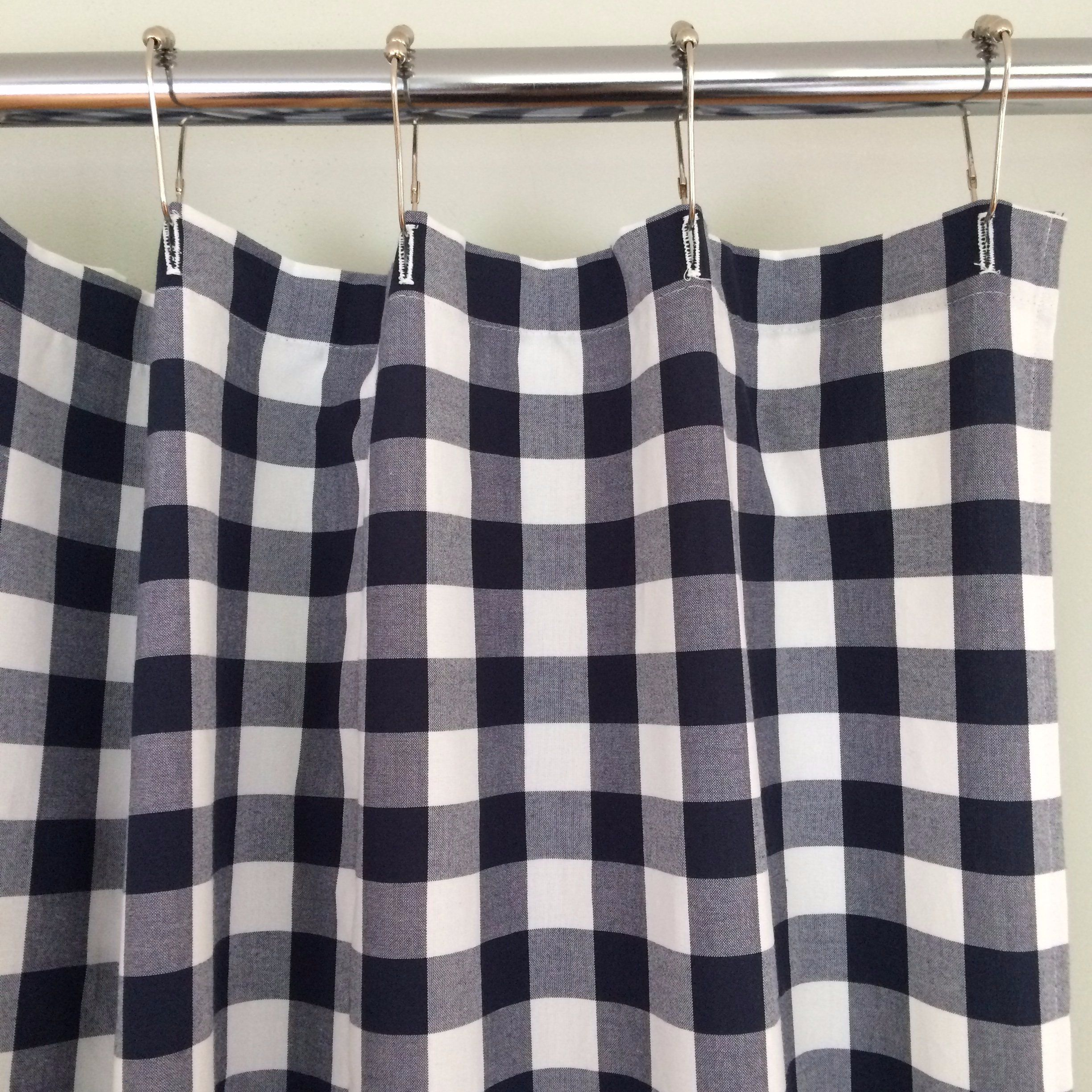 Grey And White Gingham Curtains Buffalo Check Shower Curtain Navy Blue And White Bathrooms
