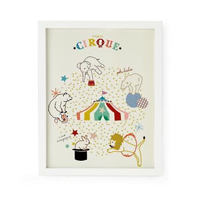 Kids' Posters, Prints & Art: Limited Edition Colorful Circus Wall Art in Nod Institute of Art