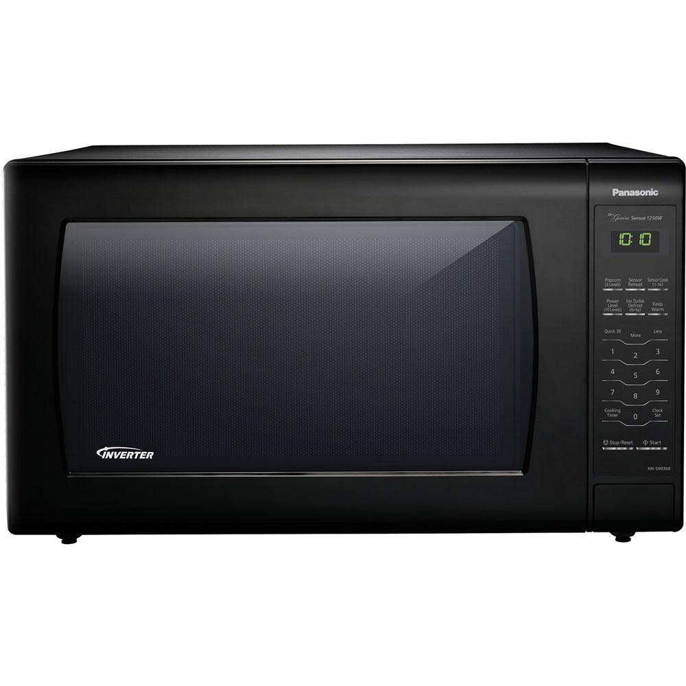 Panasonic 2 2 Cu Ft Countertop Microwave In Black Built In
