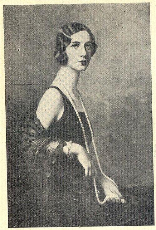Ilustração, No. 114, Septembre 161930 Portrait of Antónia de Faria (Brazilian), by Italian painter Boni.