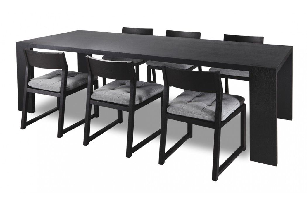 Odessa Dining Table Black Oak New York Clearance Clearance