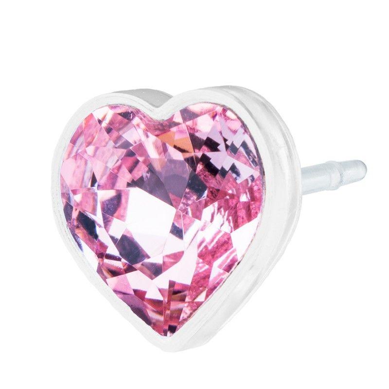 Blomdahl MP Heart 6mm Light Rose B