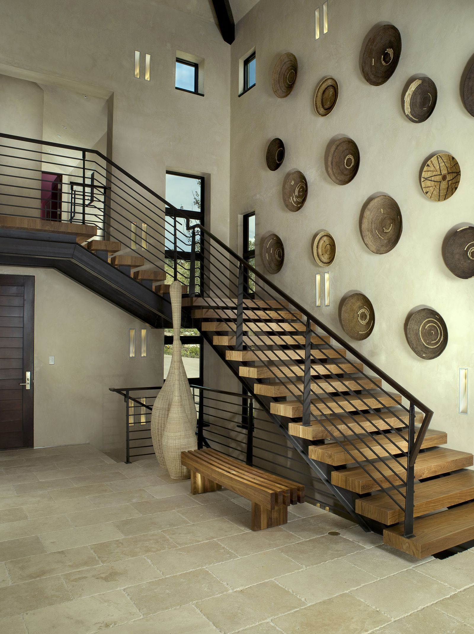 27 Stylish Staircase Decorating Ideas | Staircase wall ... on Creative Staircase Wall Decorating Ideas  id=83728