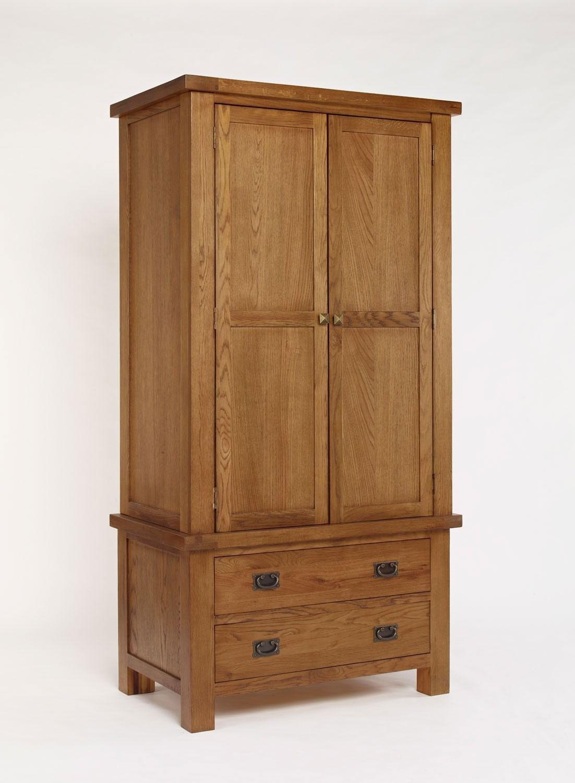 Brooklyn rustic oak single wardrobe