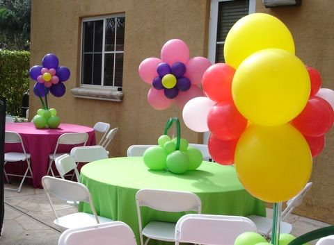 Balloon Table Decorations   Birthday Party Ideas