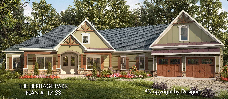 Heritage Park House Plan 17 33 Kt Garrell Associates Inc House Plans Craftsman Style House Plans Ranch House Plans