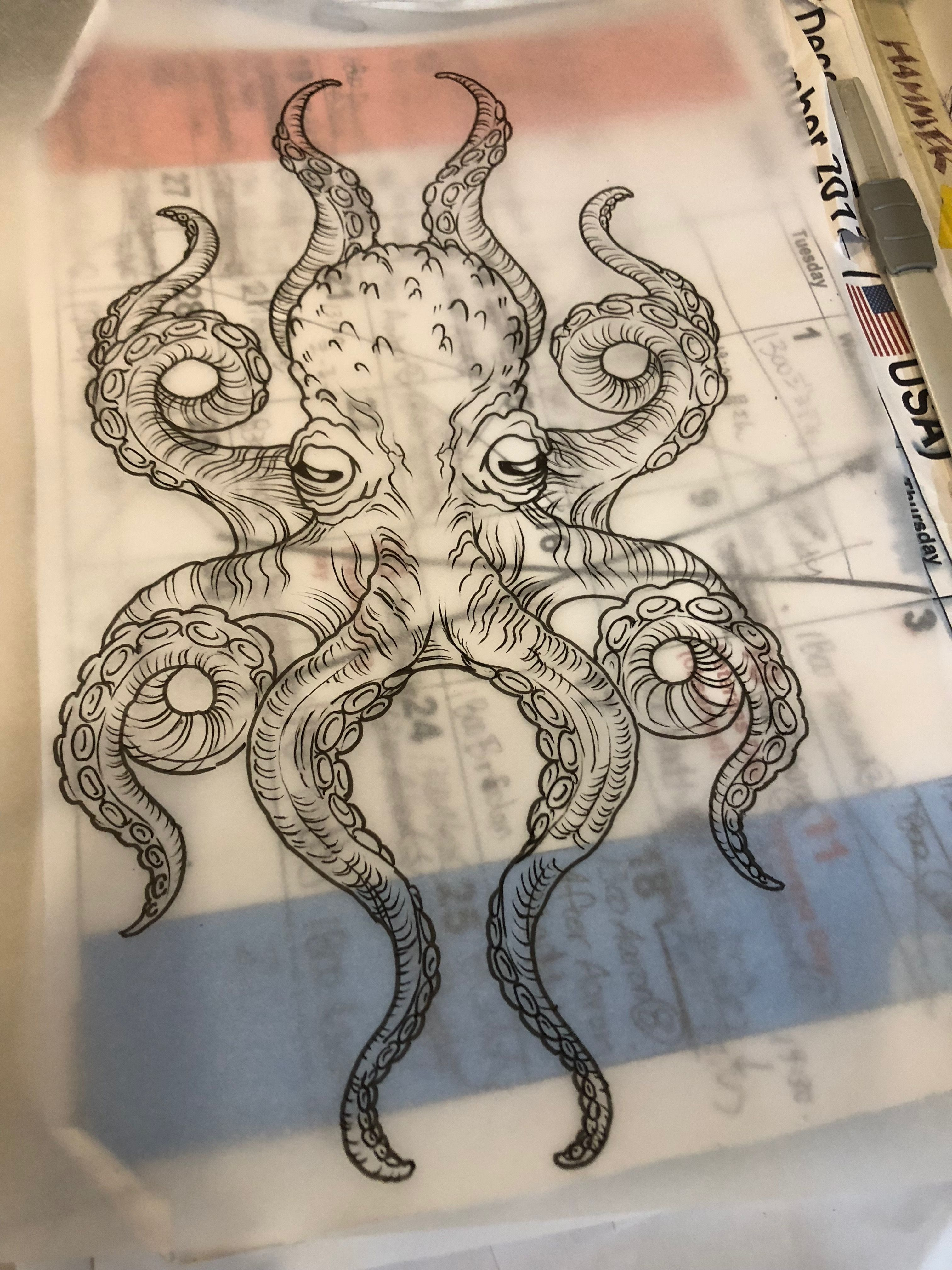 Photo of Octopus Tattoo Drawing