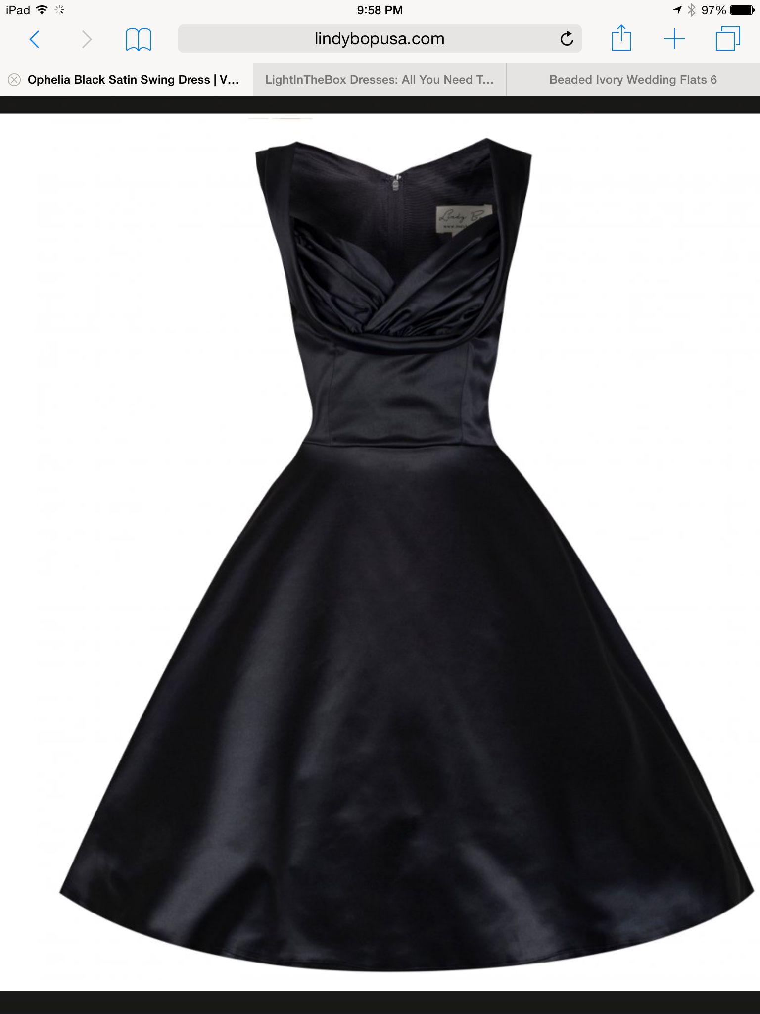 Love The 50 S Retro Look Satin Swing Dress Cocktail Evening Dresses Vintage Black Cocktail Dress [ 2048 x 1536 Pixel ]