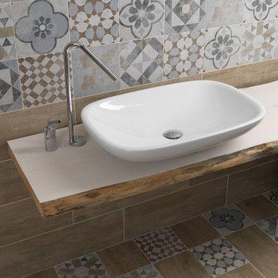 Piastrella Villa 20 x 20 multicolor   Home in progress - Bathroom ...