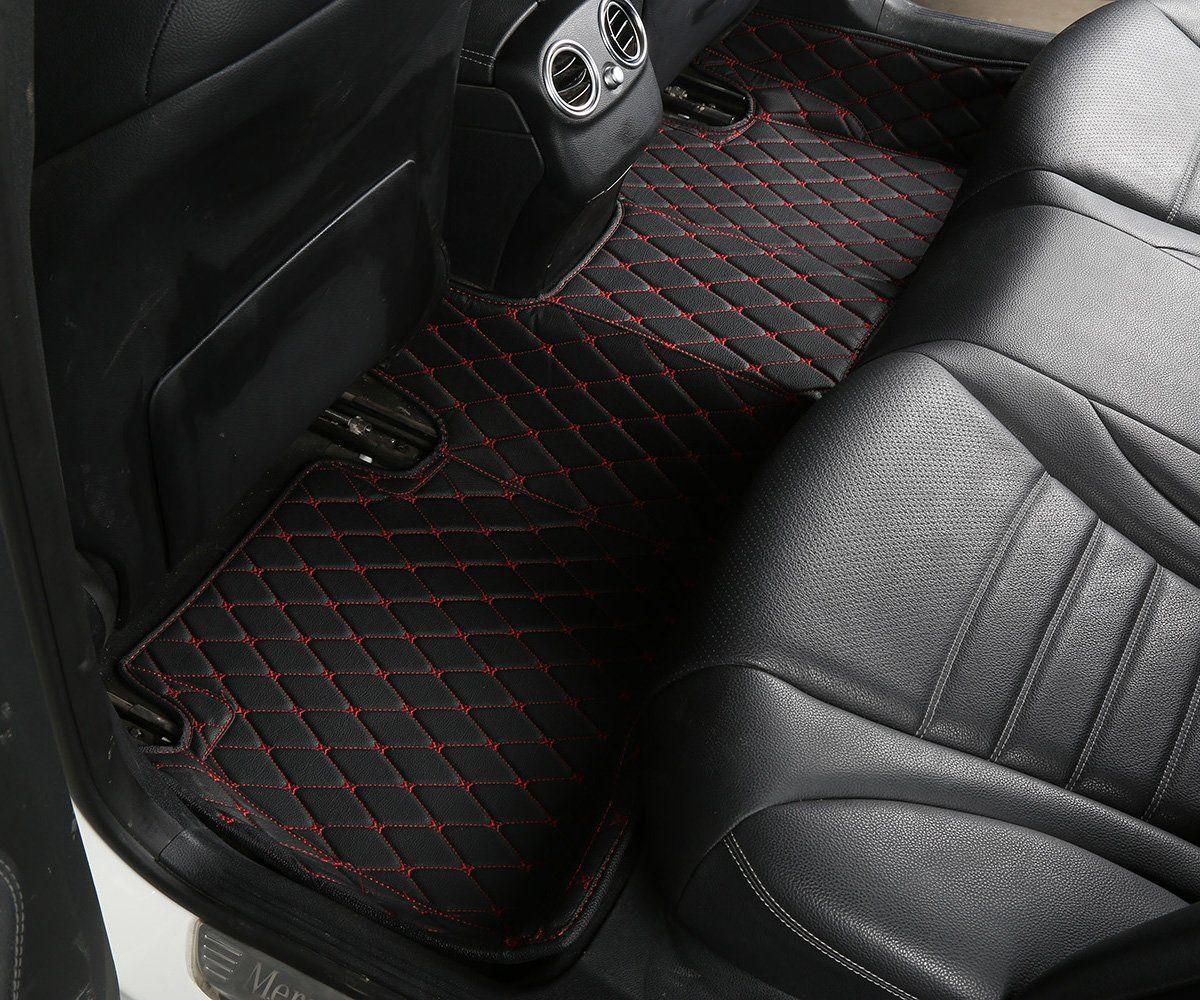 Worthmats Custom Fit Luxury Xpe Leather Waterproof Floor Mat For