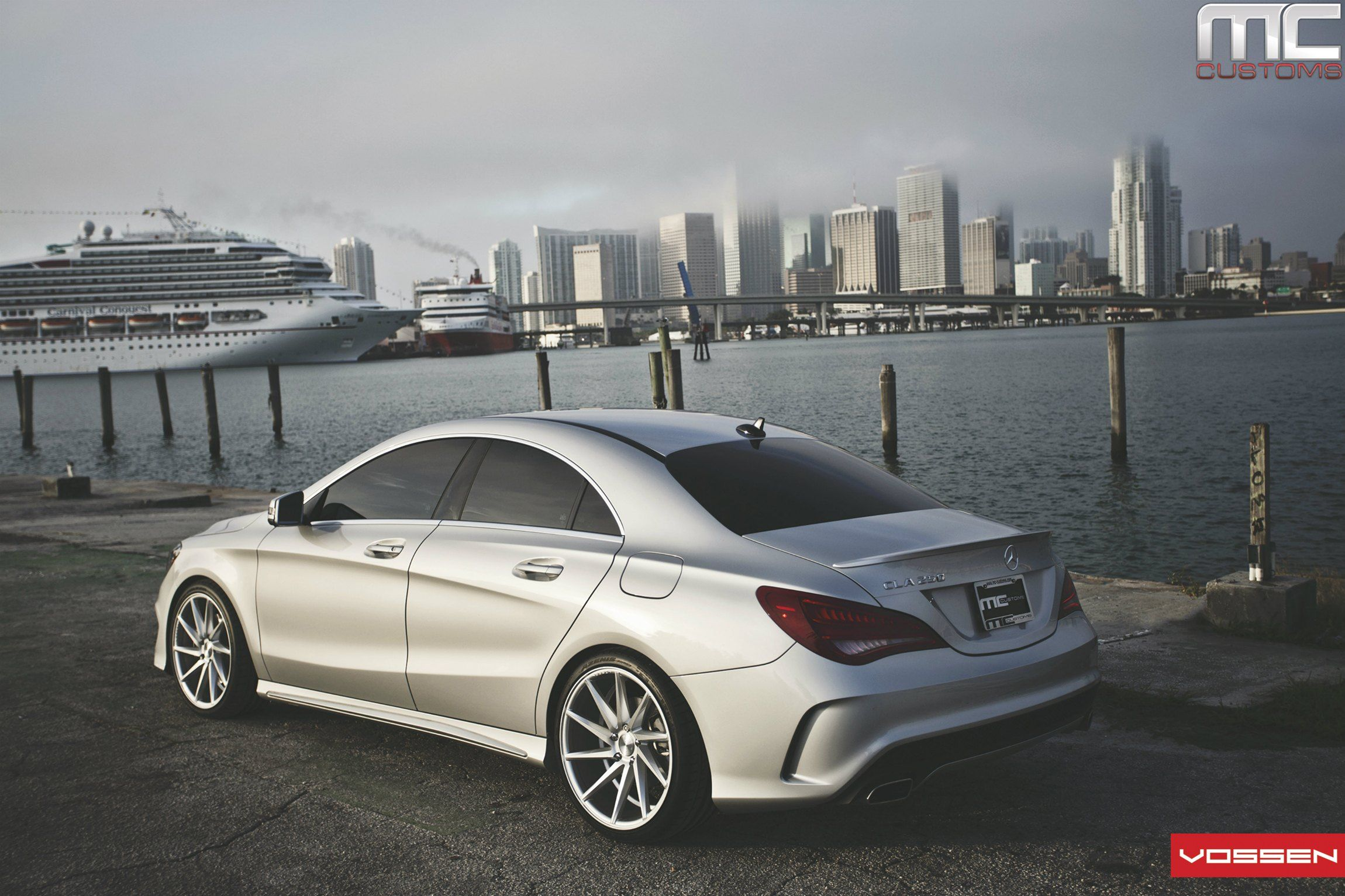 Mercedes Cla250 Gets Aftermarket Wheels By Vossen Velg