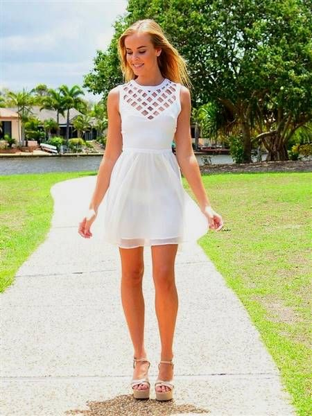 High School Graduation Dress White 2018