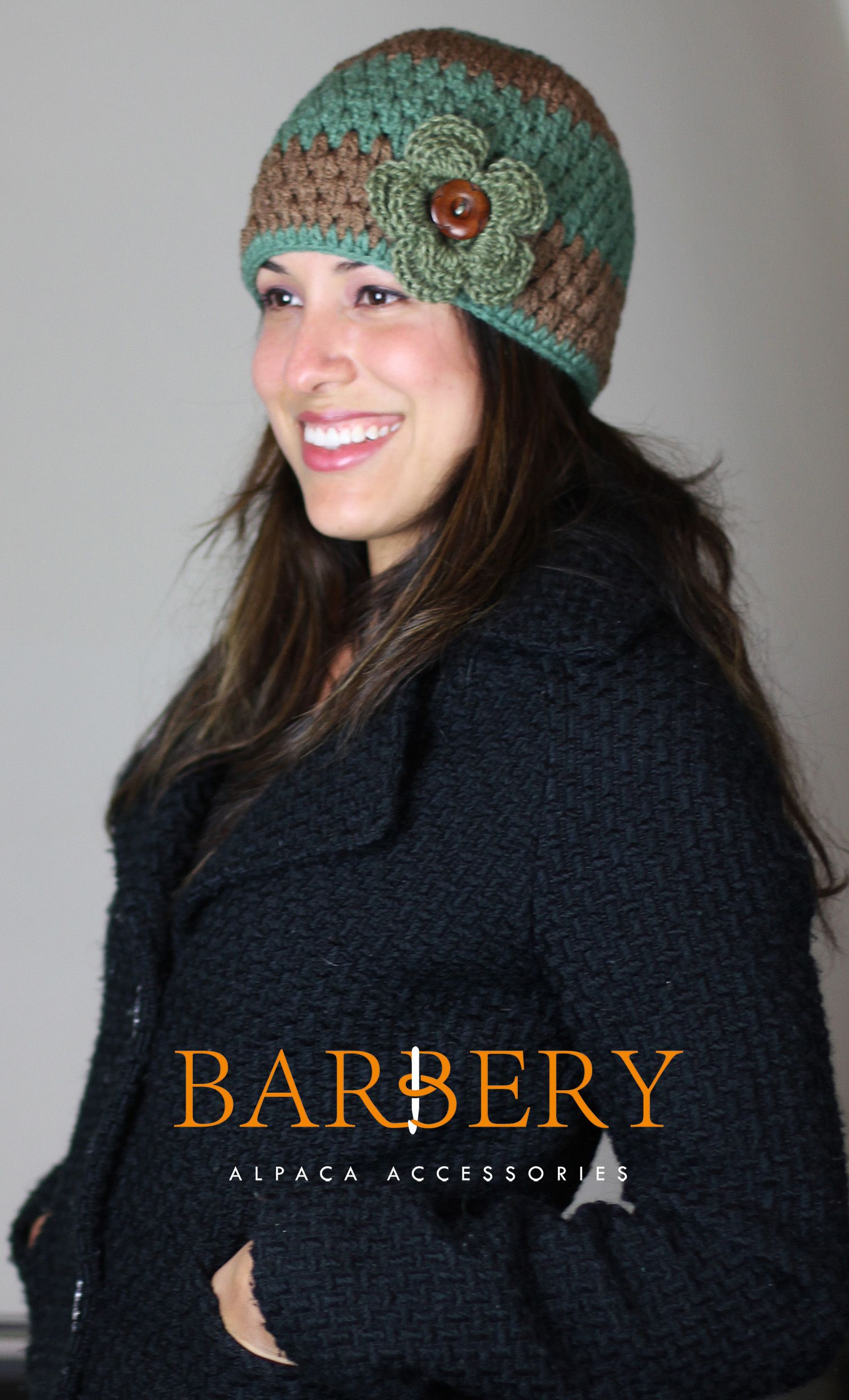 2eb1ab15cb8 This hat can be custom made in any color color combination of your choice!  Crocheted 100% by hand using a warm and cozy PURE ALPACA yarn from Bolivia