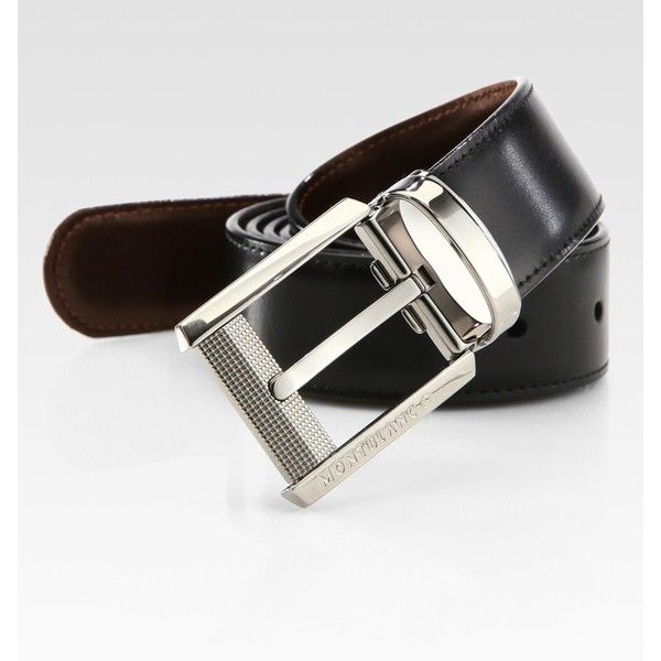 Montblanc Leather Belt ($270) found on Polyvore