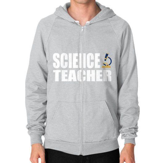 Science teacher Zip Hoodie (on man)