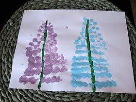Super Simple Spring Craft for Small Children:  Fingerprint Spring Flowers