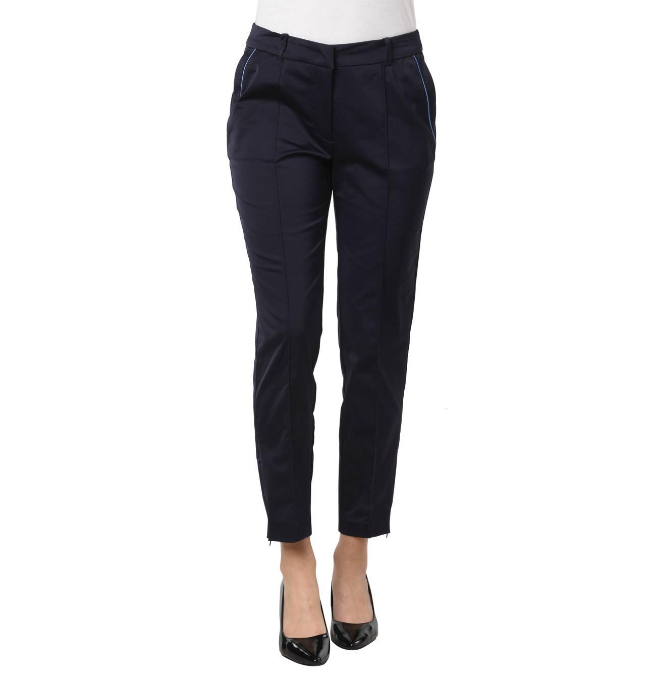 Stoffhose 7 8 Slim Fit Mid Waist Satin Optik Bugelfalten Stoffhose Hosen Und Damen Bekleidung