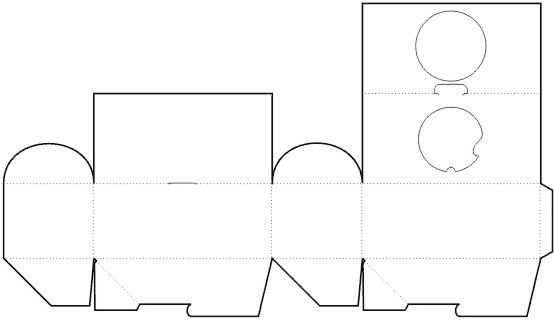 Die cutting image of A Gift Box Template (Rectangle Shape