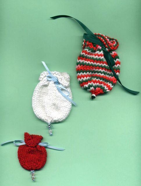 Knitting Pattern Depot: Little Ornament Style Gift Bags ...