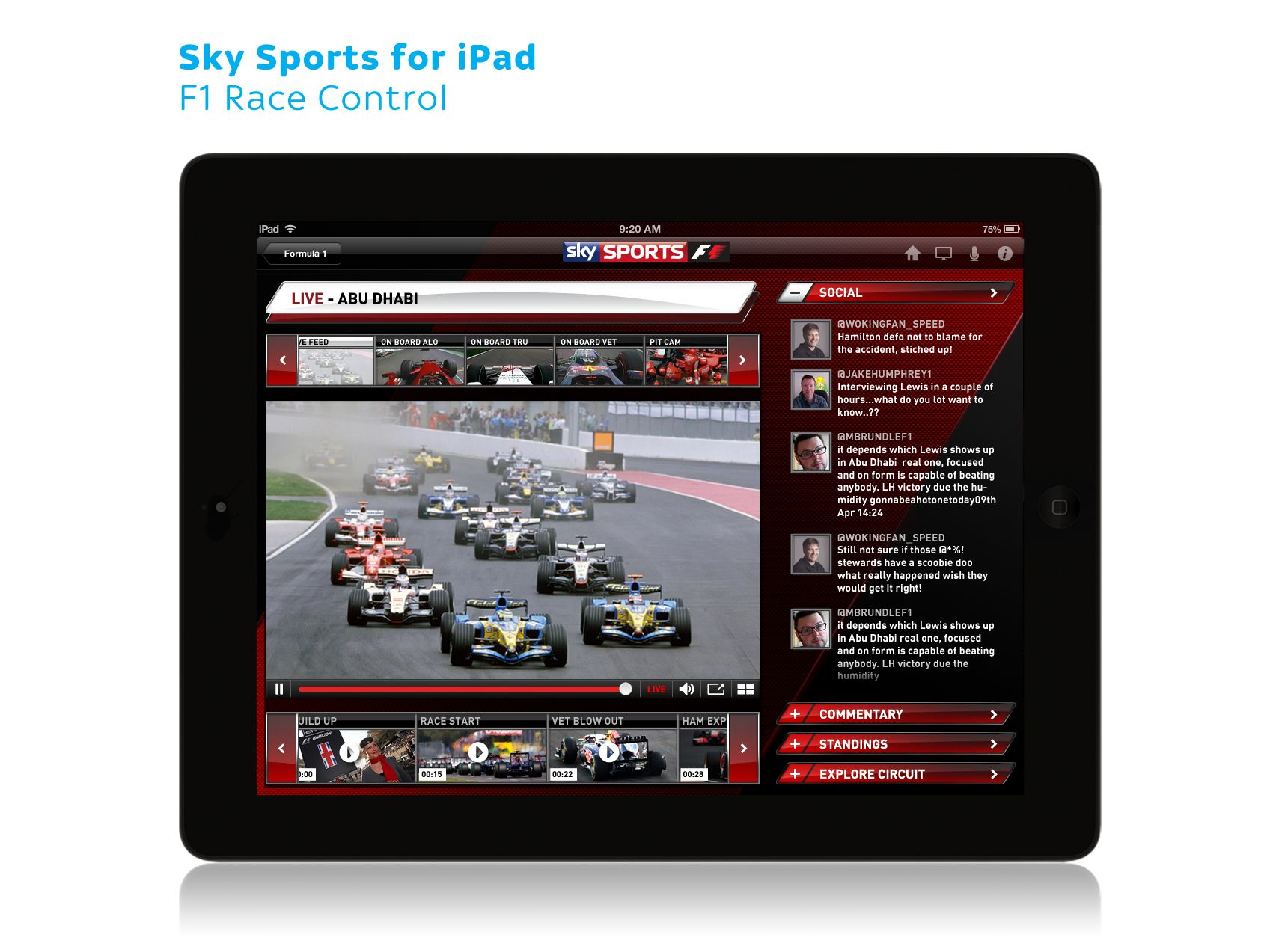 Sky Sports for iPad F1 03 Ipad, Sports, Sporting live