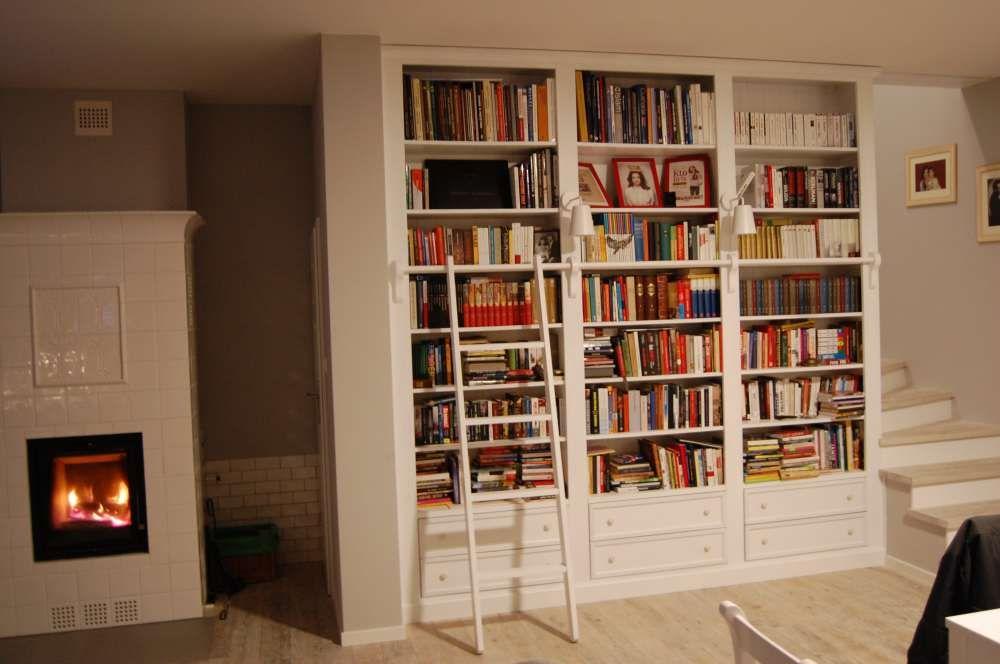 Biała Biblioteka Drewniana Regał Na Książki 5836875445