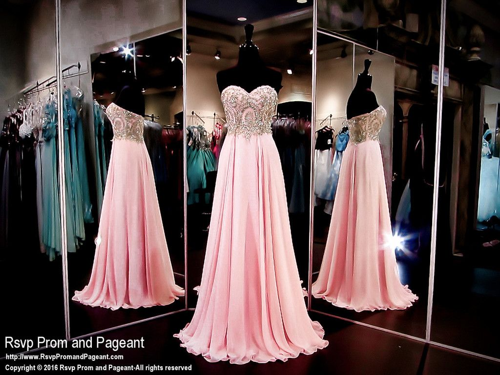 Blush/Pink Chiffon Prom Dress-Sweetheart Neckline-116CLAR027150 ...