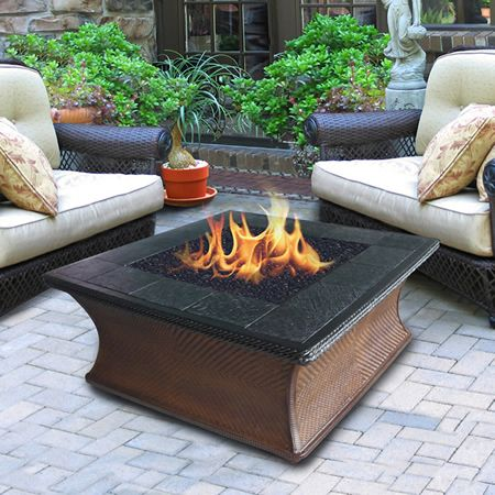 Great Monterey Chat Gas Fire Pit Table | WoodlandDirect.com: Outdoor Fireplaces: Fire  Pits