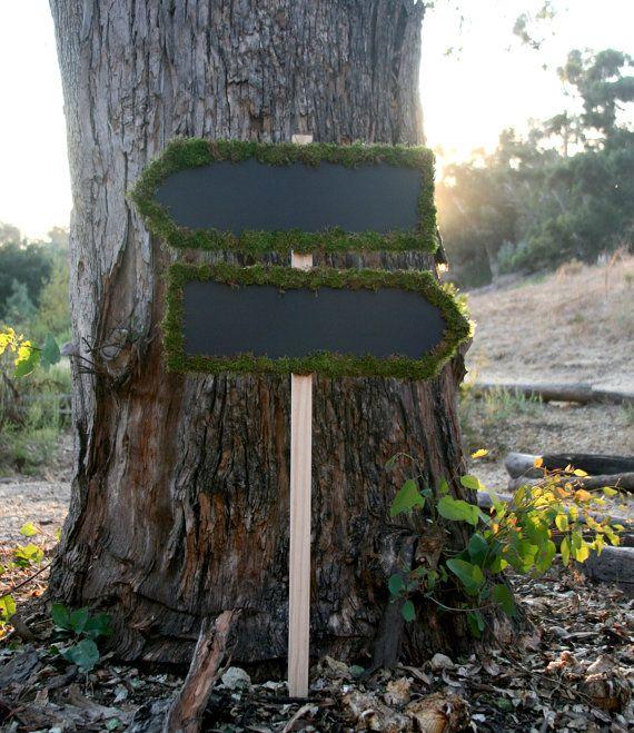 moss chalkboard sign
