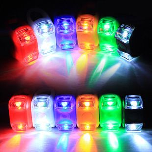 Cycling Bike Front Warning Lamp Bicycle 2LED Silicone Rear Light Safety Spokes