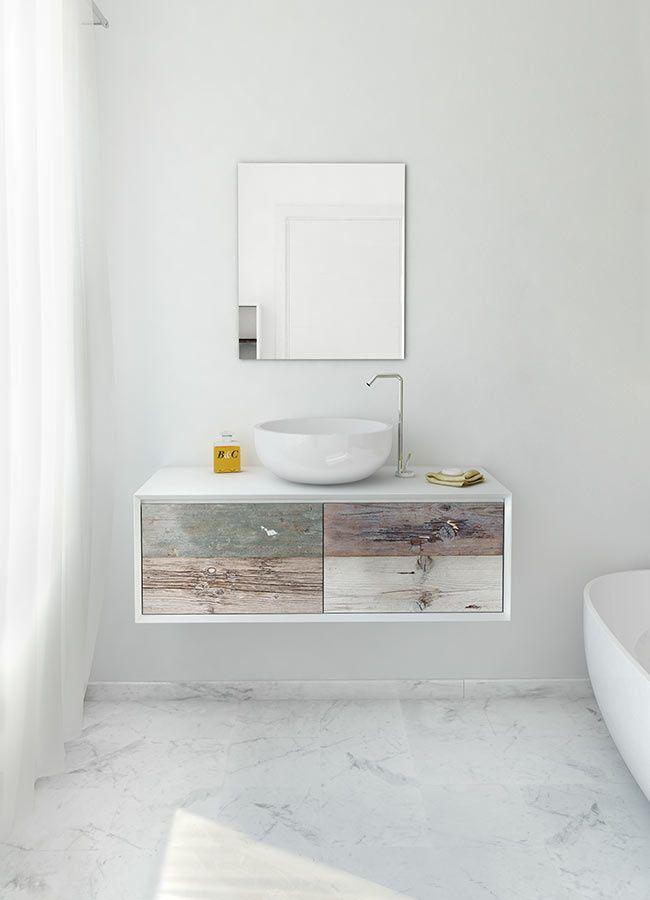 Weathered Wood Look Bathroom Vanities Stunningly Beautiful - Weathered wood bathroom vanity