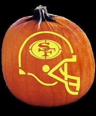 49ers pumpkin template  SPOOKMASTER NFL FOOTBALL SAN FRANCISCO 5ERS HELMET PUMPKIN ...
