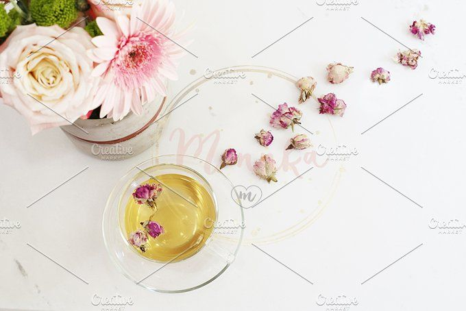 A cup of healthy herbal tea by MONNKA on @creativemarket