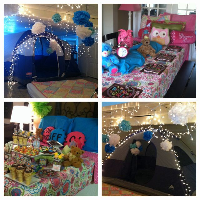 night owl theme slumber birthday party by natalie. Black Bedroom Furniture Sets. Home Design Ideas