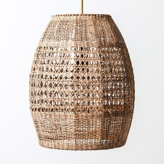 Natural Cane Woven Pendant Light | Assorted Sizes in 2020 ...
