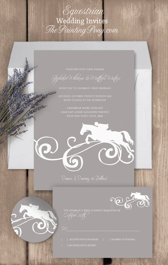 Equestrian Juping Horse Wedding Invitation 10 Pk In 2018 Events