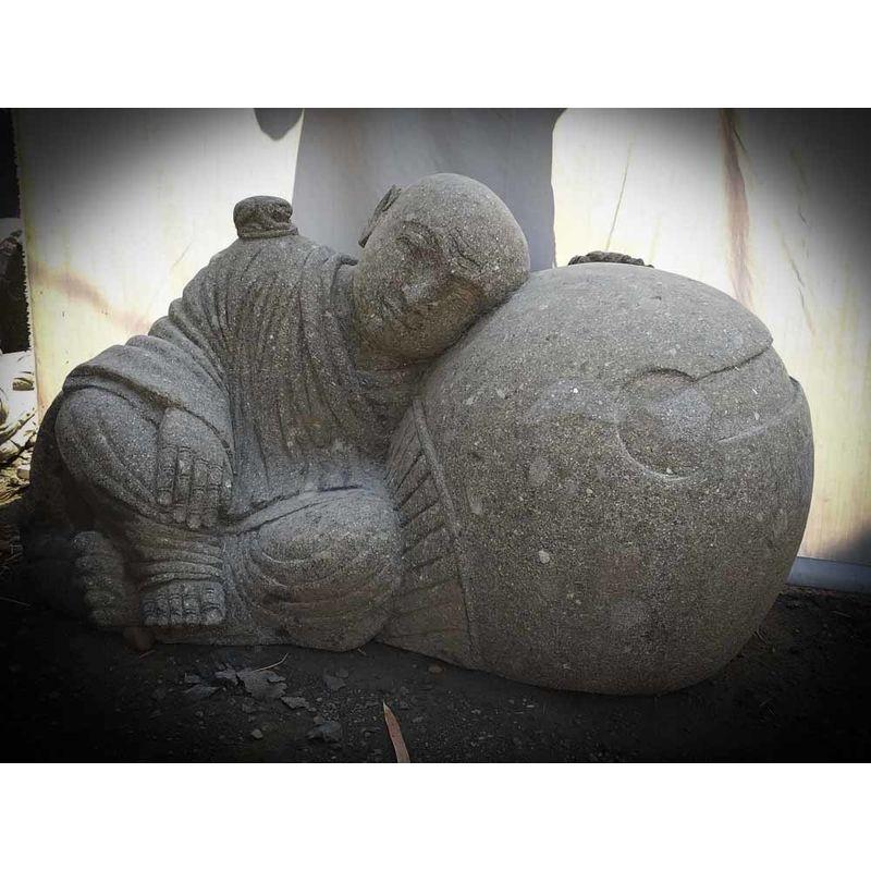 Statue en pierre de jardin zen moine Shaolin 1 m – WANDA-COLLECTION