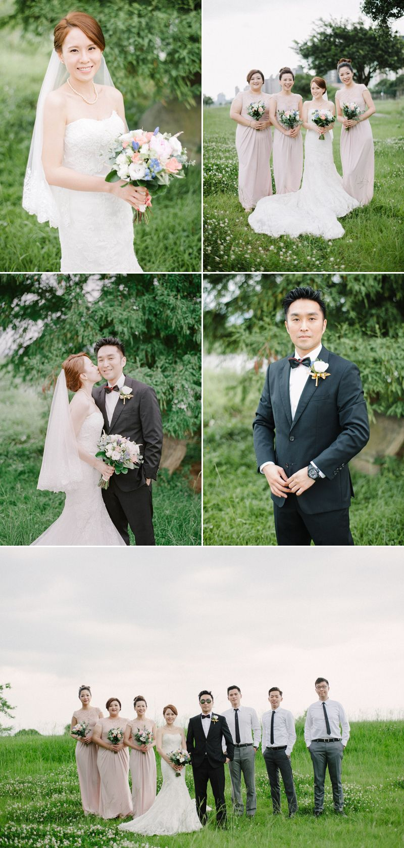 Romance and style come together for this bluehued wedding romance