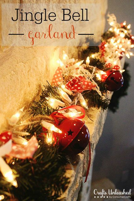 Bell Decorations Diy Christmas Garland Jingle Bell  Crafts Unleashed  Diy