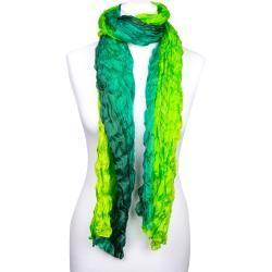 Photo of Knitterschal Halstuch Schal Xxl grün dunkelgrün hellgrün Farbverlauf 100% Seide 180x90cm