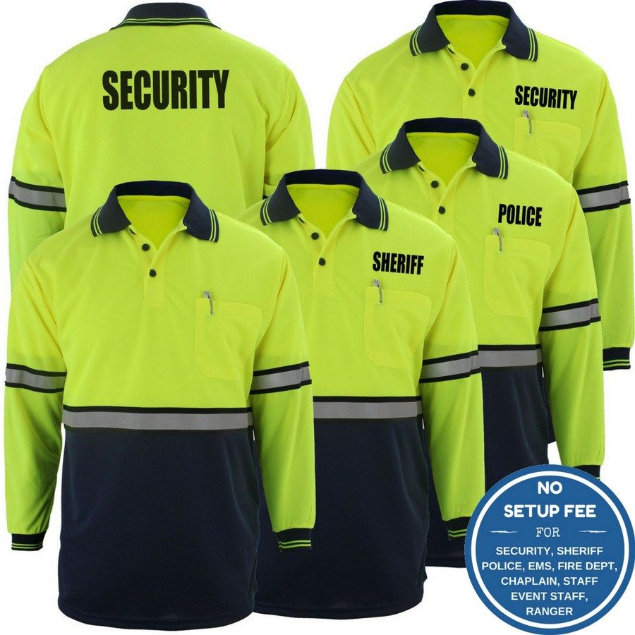 First class twotone longsleeve polo shirt long sleeve