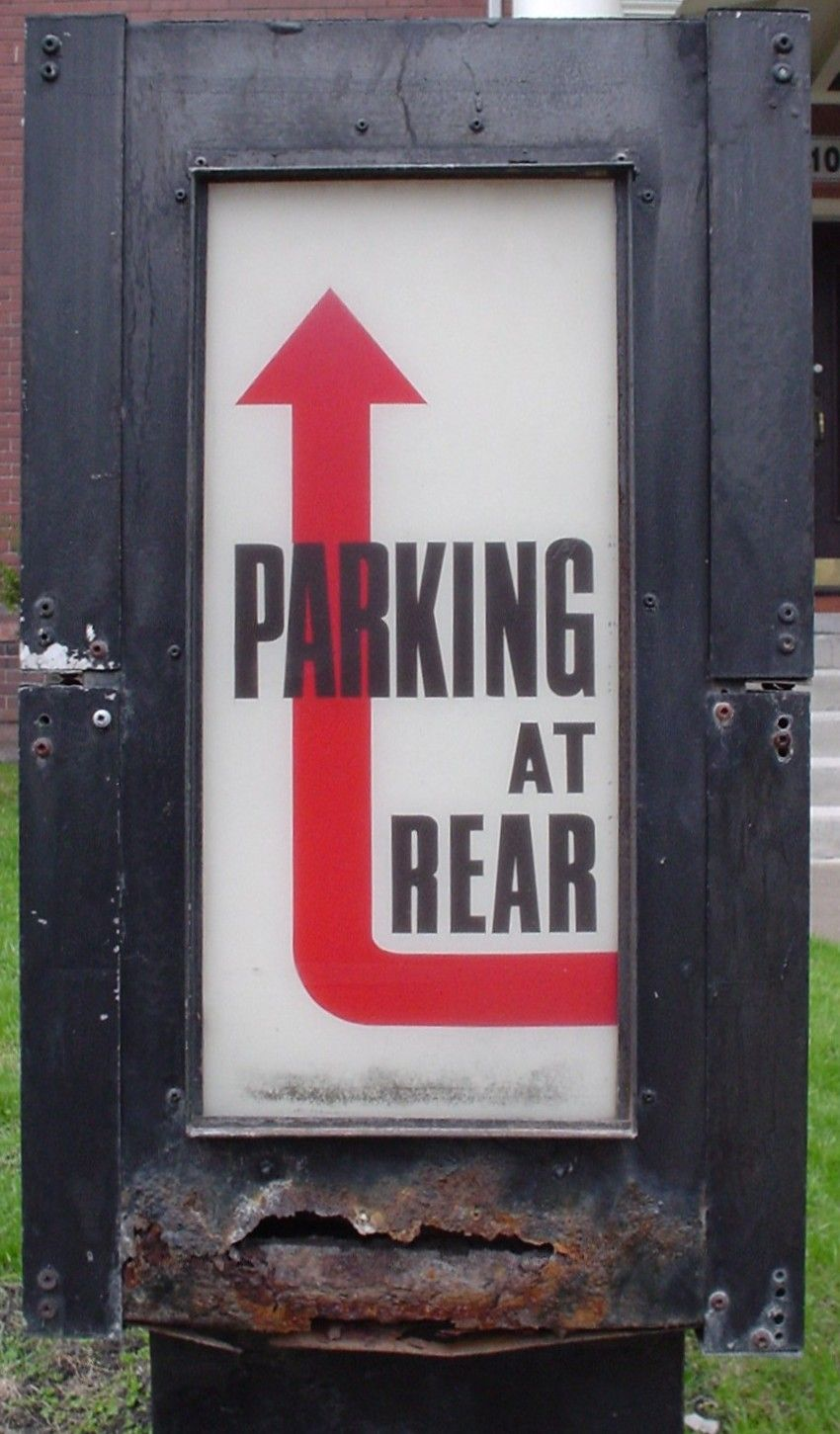 Parking, graphics Road signs, Rhyme and reason, Fall rock