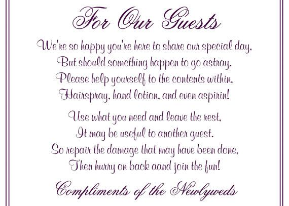 Wedding Printable Bathroom Basket Poem Sign Digital File