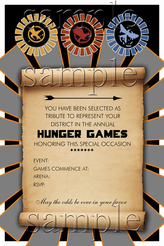Hunger Games Party Invitation by BookishWays on Etsy, $12.00   Books ...