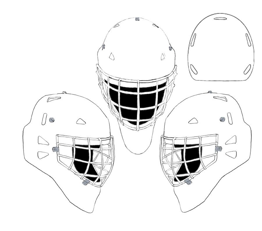 Hockey goalie mask coloring recherche google coloriage - Dessin hockey ...