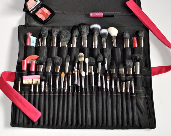 50 Slot Brush Roll Extra Extra Large Size Makeup Artist Brush