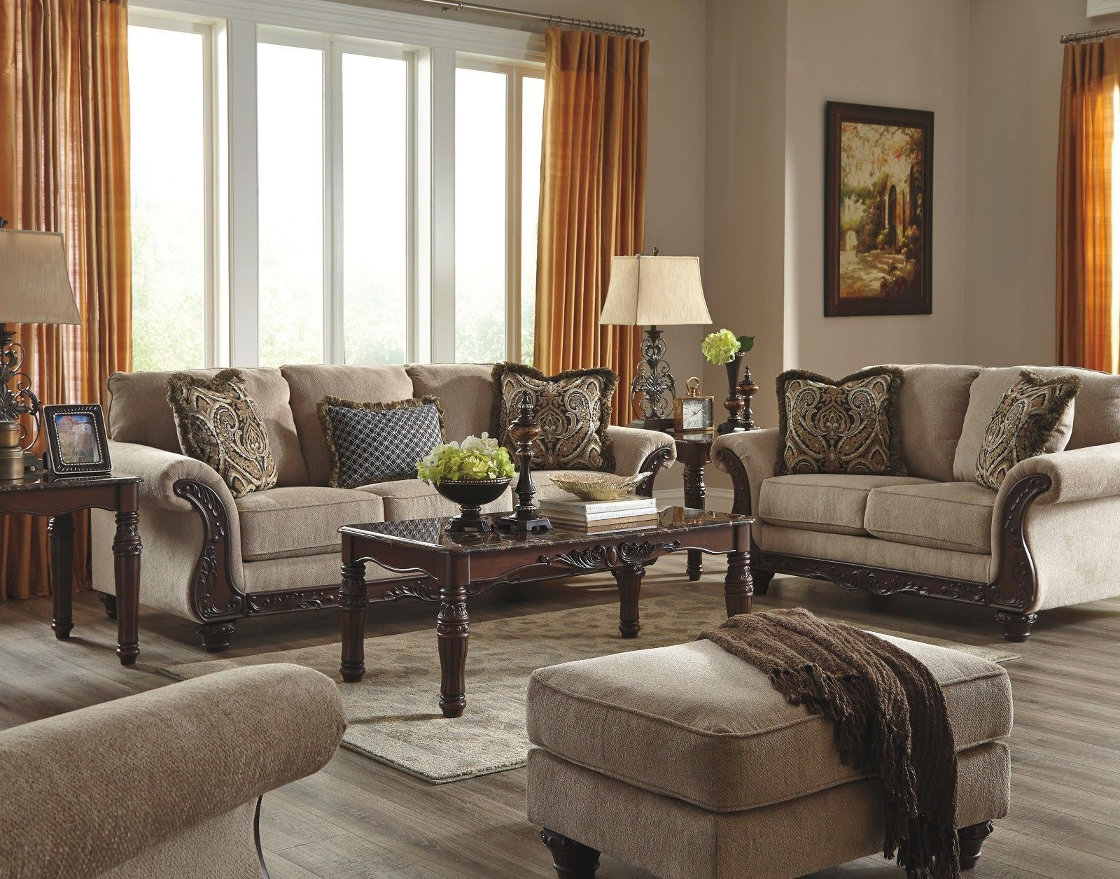Ashley Laytonsville Pebble Sofa And Loveseat Furniture 72002 Ebay Living Room Sets Furniture Sofa And Loveseat Set