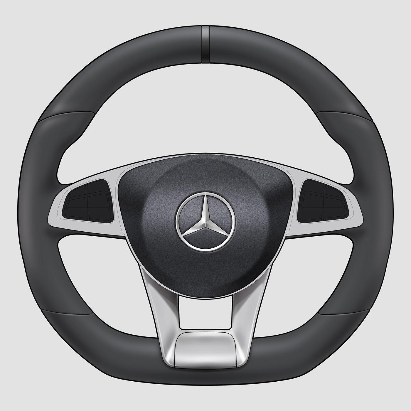 Steering wheel rendering tutorial on Behance   Steering ... - photo#22