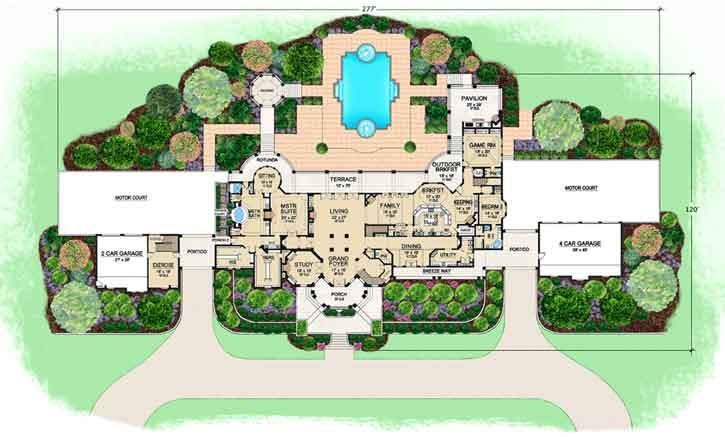 This Is Just Plain Greedy😂 Luxury Style House Plans   12291 Square Foot  Home , 3 Story, 5 Bedroom And 7 Bath, 6 Garage Stalls By Monster House Plans    Plan