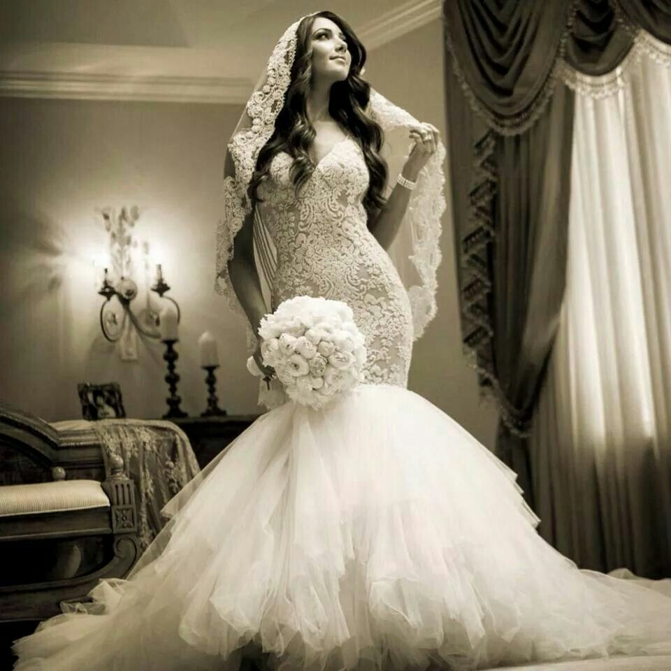 Spanish Lace Wedding Gown: Pin On Bridal Fashion