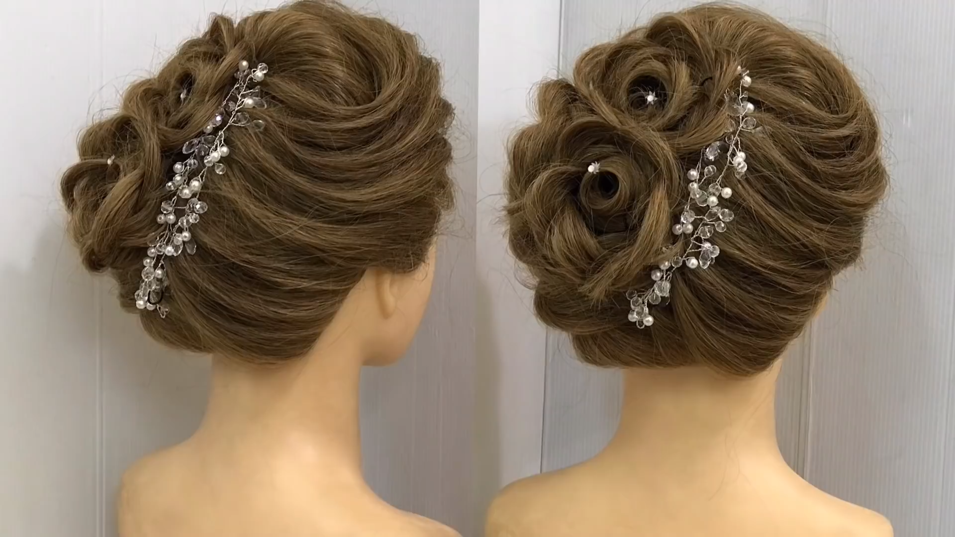 Awesome Hairstyle For Wedding Or Party Beautiful Hairstyles Wedding Hairstyles Awesome Ha In 2020 Wedding Hairstyles Videos Cool Hairstyles Hair Styles